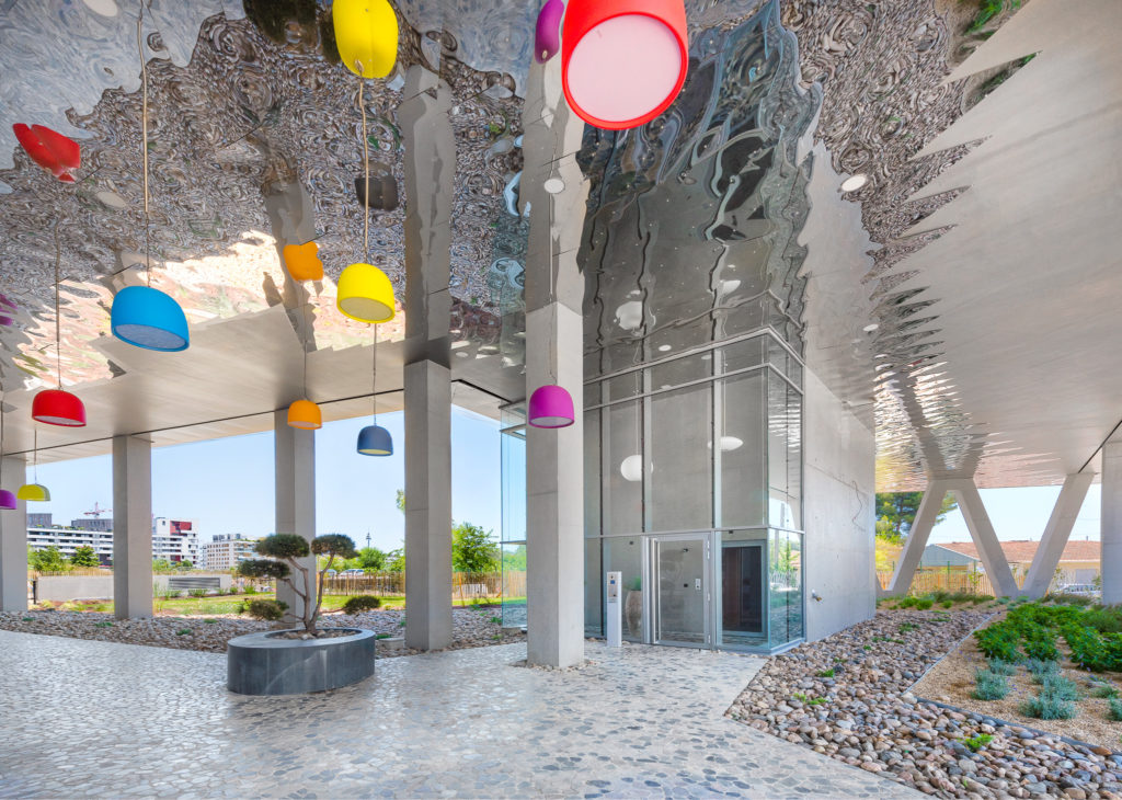 Hall extérieur - Le Platinium à Montpellier par M&A Promotion