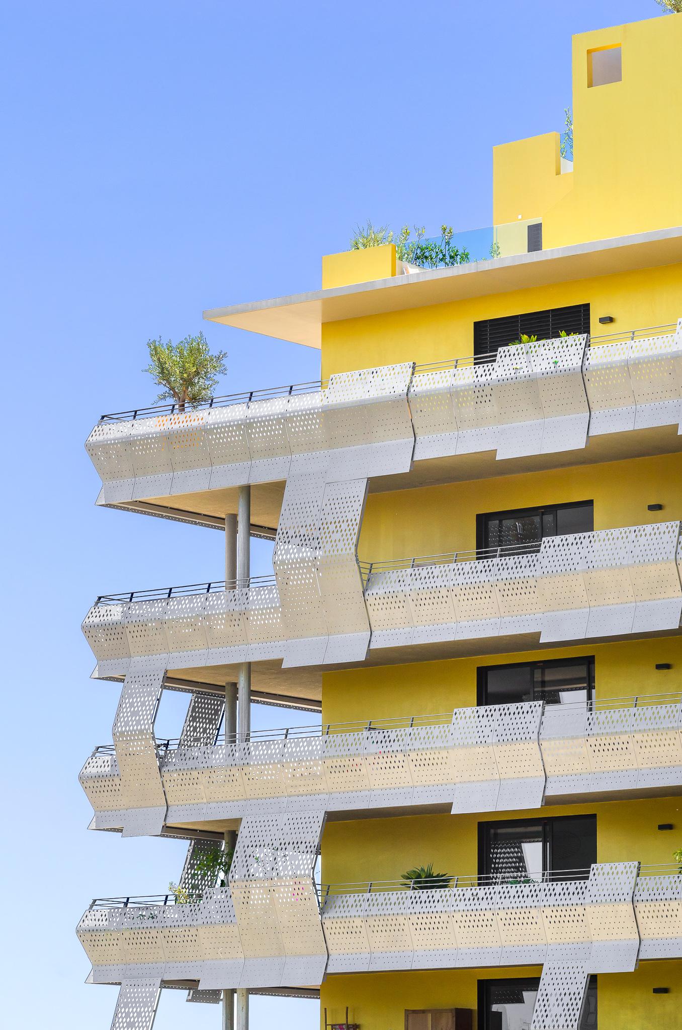 Détails d'une façade - Le Platinium à Montpellier par M&A Promotion