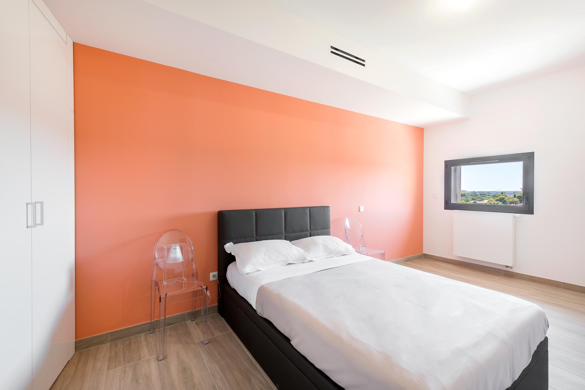 Chambre d'une villa sur le toit - Le Platinium à Montpellier par M&A Promotion