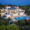 Vue aérienne par drone d'une villa de prestige à Castelnau-le-Lez pour le compte de l'agence Sotheby's Montpellier