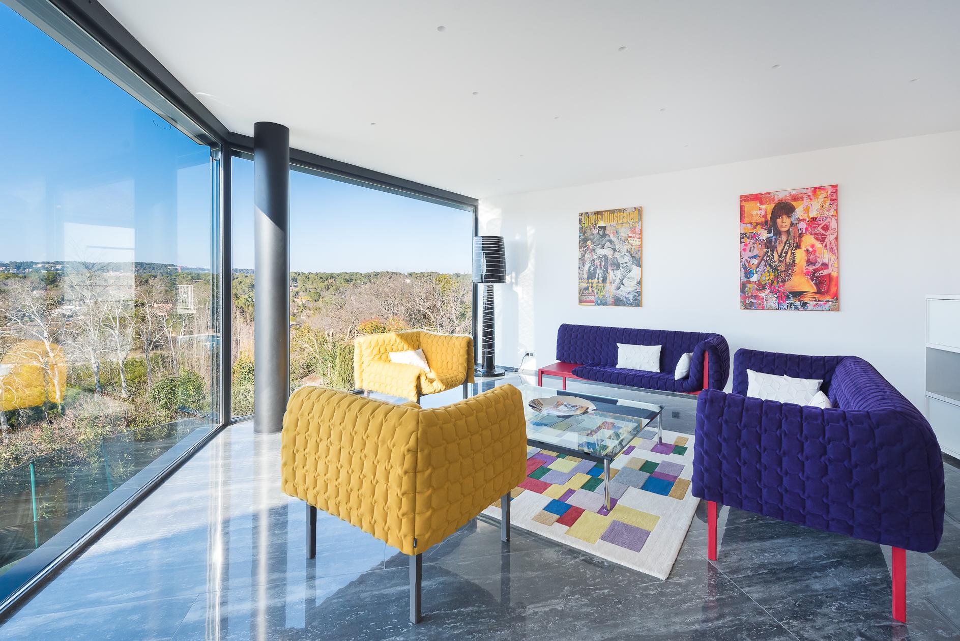 Salon d'une Villa de prestige à Castelnau-le-Lez - Agence Sotheby's Montpellier