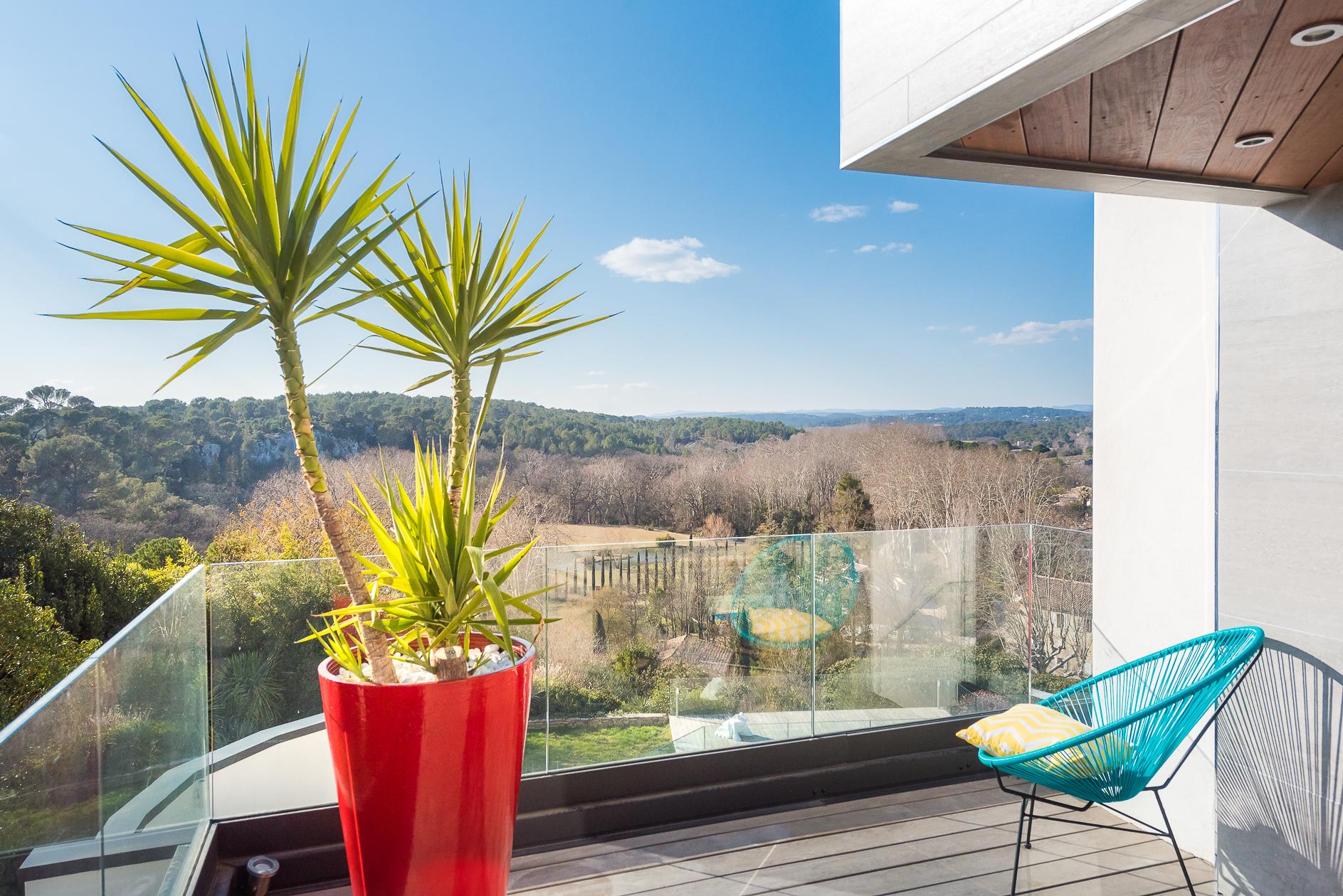 Terrasse d'une Villa de prestige à Castelnau-le-Lez - Agence Sotheby's Montpellier