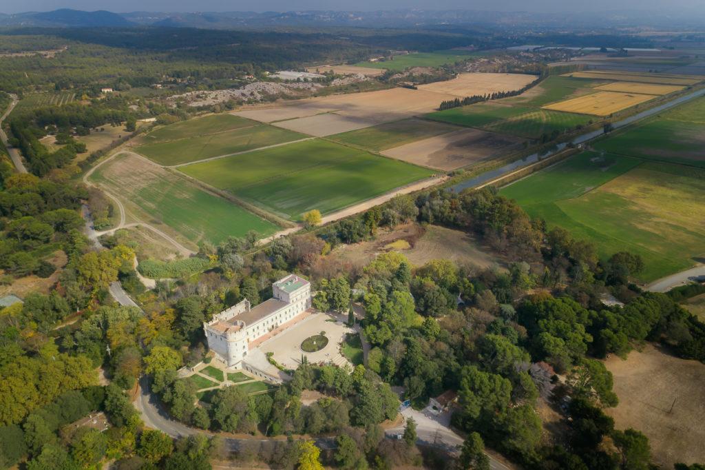 Sotheby's-Chateau de Barbegal vue aérienne par drone